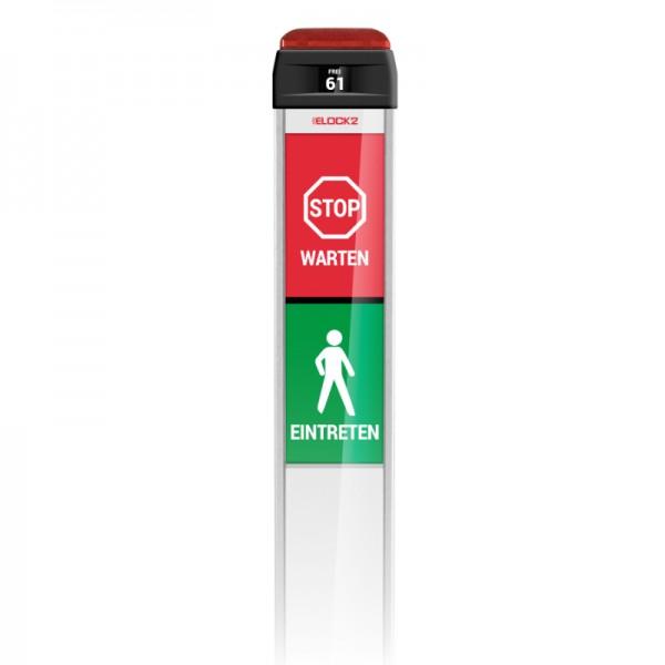 Einlass-Kontroll-Ampel | Automatisches Besucher Zählsystem | Plug & Play | Netzbetrieb | Elock2 Detail