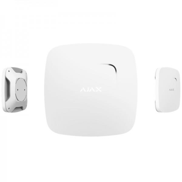 Funk Rauchmelder für HUB Alarmzentrale | FireProtect | Smart Home | Rauch & Hitze Brandmelder | AJAX weiß