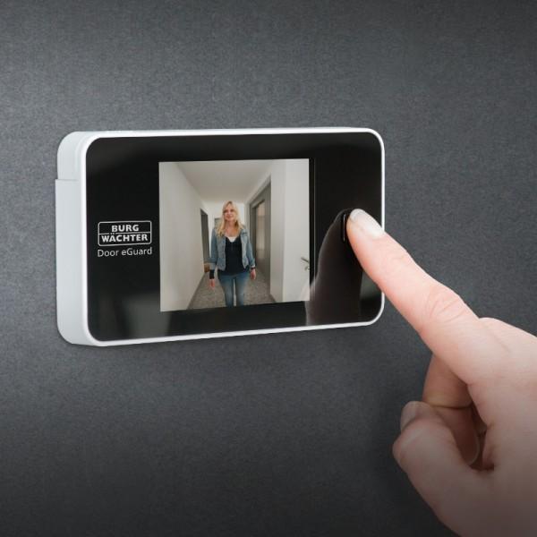 Digitaler Türspion   mit Kamera und Bildschirm   DG 8100   Weiß   Burg Wächter