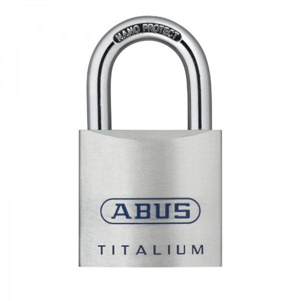 Vorhangschloss TITALIUM 80Ti 45 | leicht und robust | Stahlbügel | Größe 45 | Schlüssel | ABUS