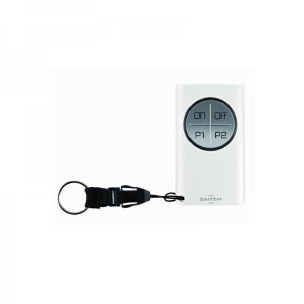 Funk Handsender mit 4 Tasten   D22 Alarmanlage   8 Funktionen programmierbar   LED Anzeige   Daitem