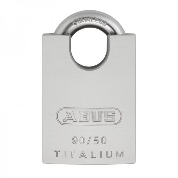Vorhangschloss TITALIUM 90RK 50 | leicht und robust | Stahlbügel | Wetterfest | Schlüssel | ABUS