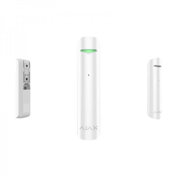 Funk Glasbruch Melder für HUB Alarmzentrale | GlassProtect | Smart Home | Fenster | AJAX weiss
