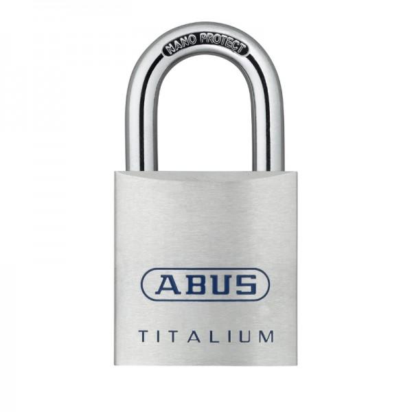 Vorhangschloss TITALIUM 80Ti 40 | leicht und robust | Stahlbügel | Größe 40 | Schlüssel | ABUS
