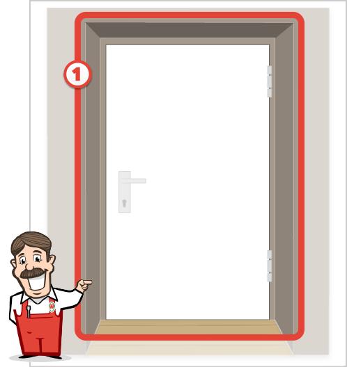 Foto der Gesamtansicht Ihrer Tür