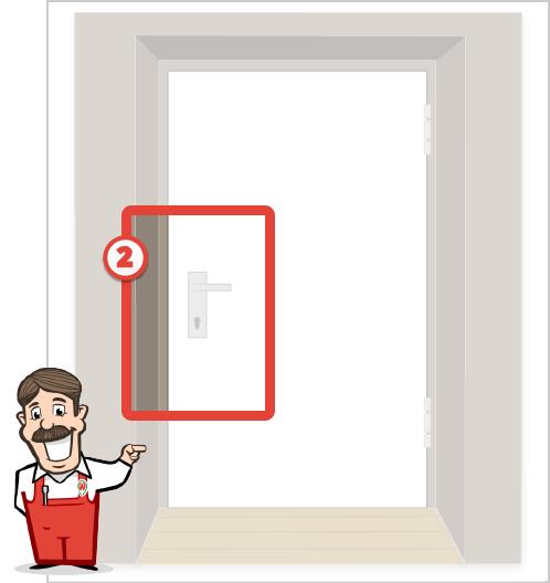Foto der Beschlagseite Ihrer Tür
