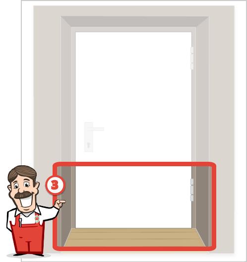 Foto des unteren Bereiches Ihrer Tür