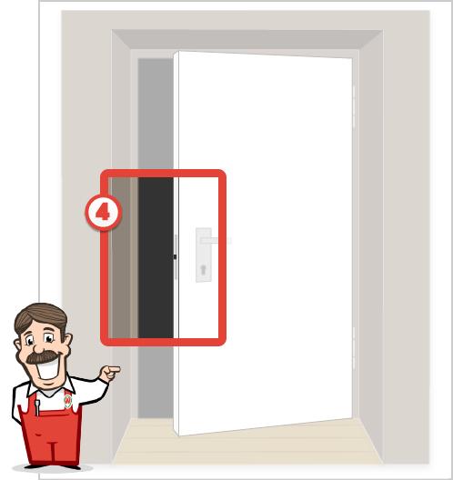 Foto der Schlossseite Ihrer Tür