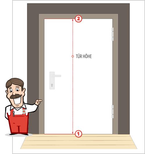 Höhe des Türblattes messen